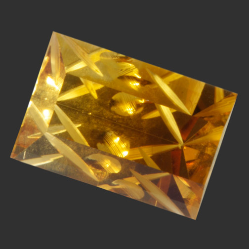 Bi-Color Citrine Slice of Pie Cut