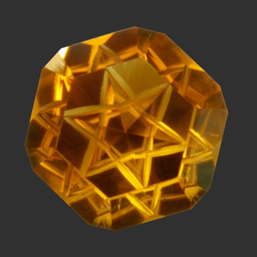 Bi-Color Citrine V5 Star Cut