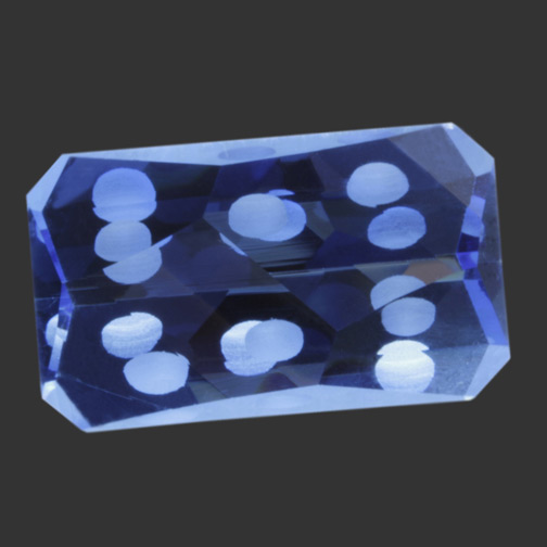 Cobalt Blue Cristinite Domino Effect Cut