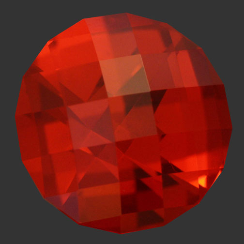 Dark Fire Orange Cubic Zirconia