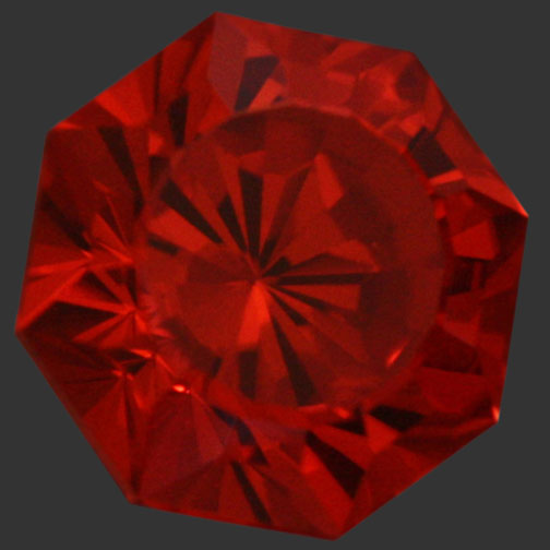 Red Orange Cubic Zirconia